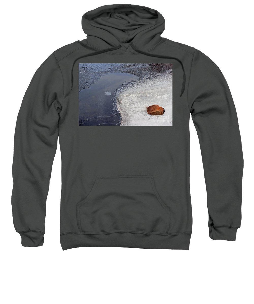 New Mexico Sweatshirt featuring the photograph Frozen Rock by Ashley M Conger