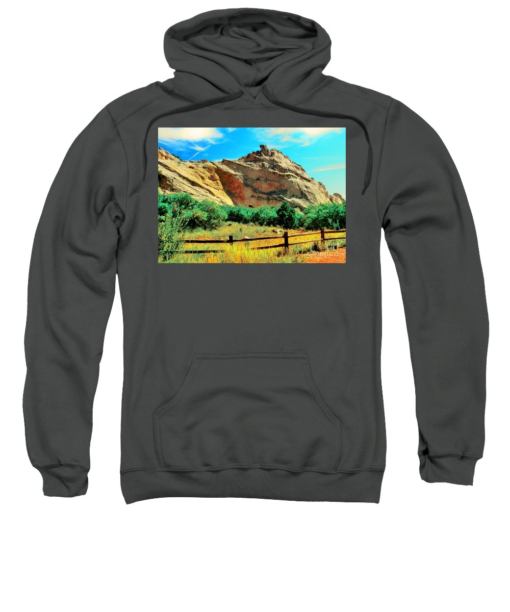 Garden God'scolorado Sweatshirt featuring the photograph Garden Of The God's-colorado by Kathleen Struckle