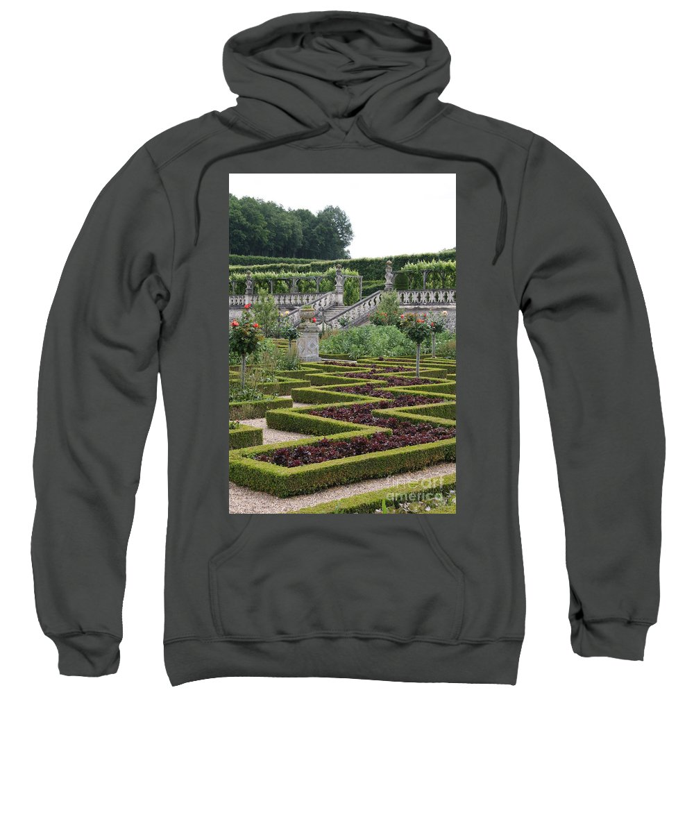 Cabbage Sweatshirt featuring the photograph Garden Symmetry Chateau Villandry by Christiane Schulze Art And Photography
