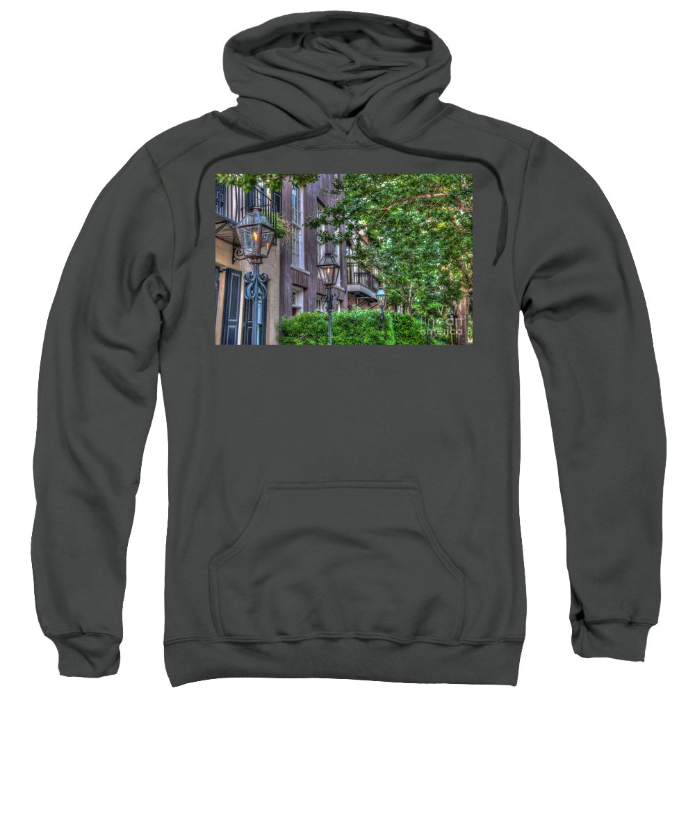 Charleston Sweatshirt featuring the photograph Gas Light Glow by Dale Powell