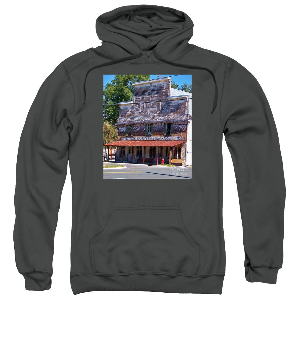 Country Sweatshirt featuring the photograph general store N Florida by Chuck Hicks