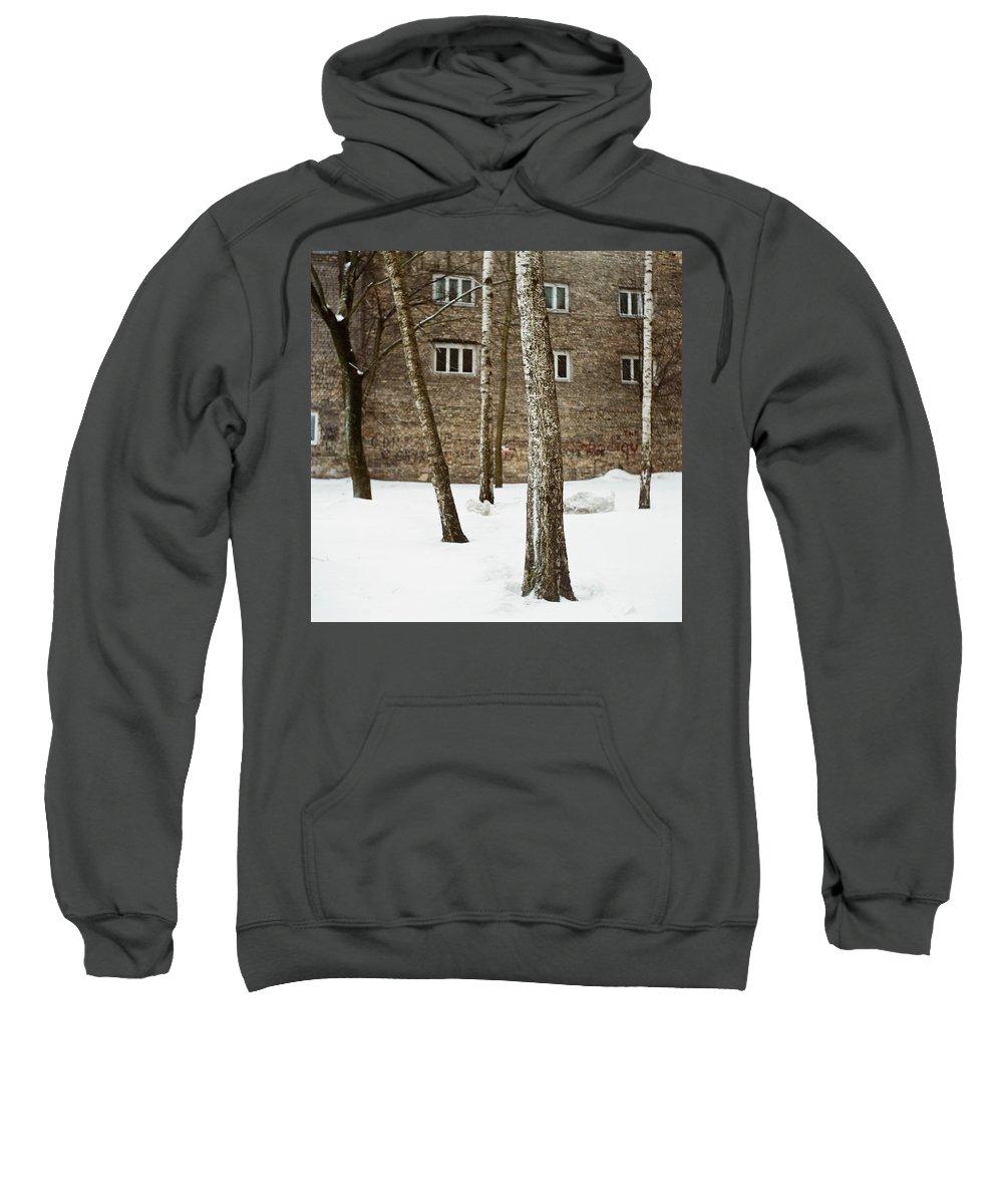 Streetview Sweatshirt featuring the photograph Gertrudes Street by Olivier De Rycke