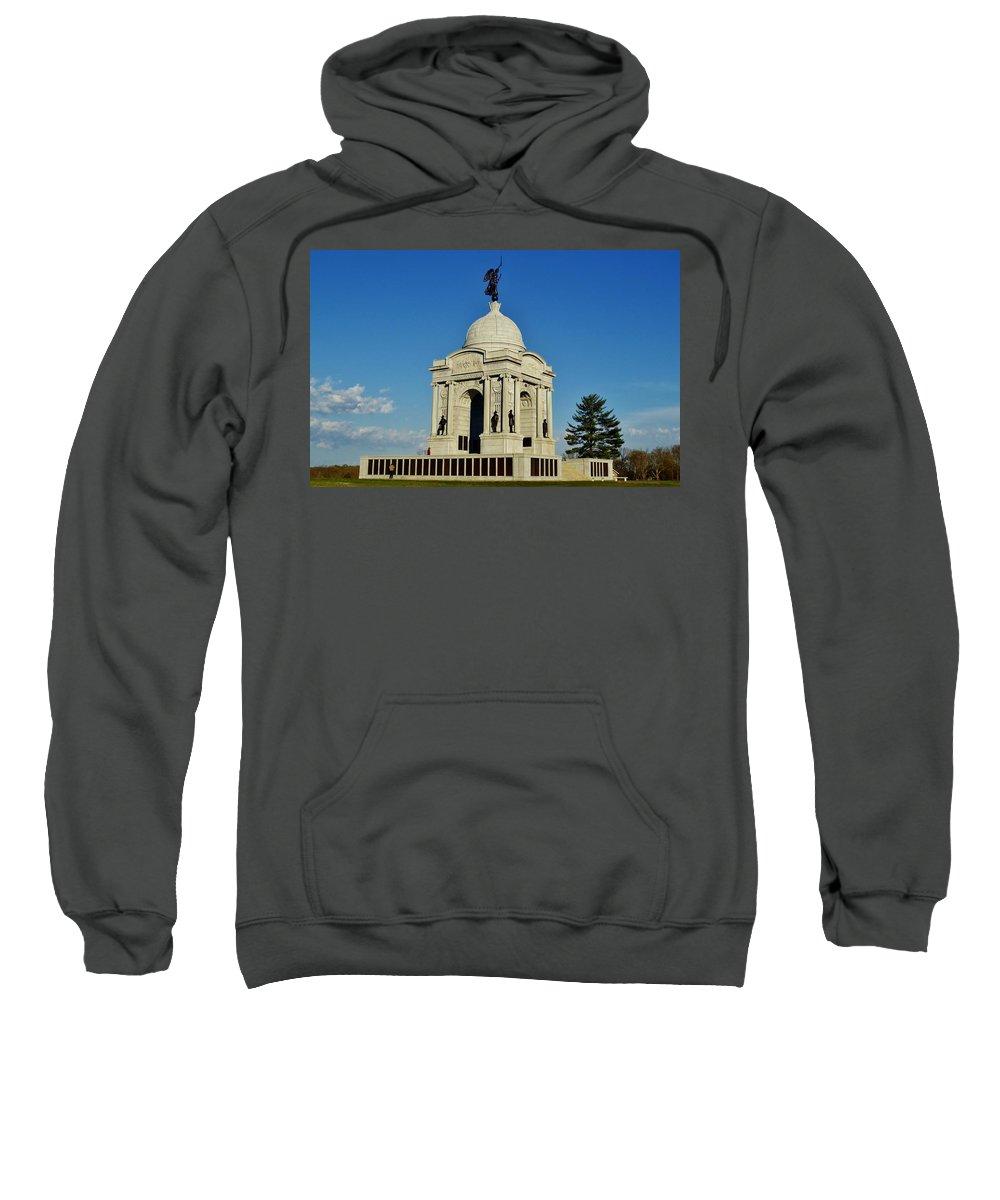 Gettysburg Sweatshirt featuring the photograph Gettysburg - Pennsylvania Memorial by Ed Sweeney