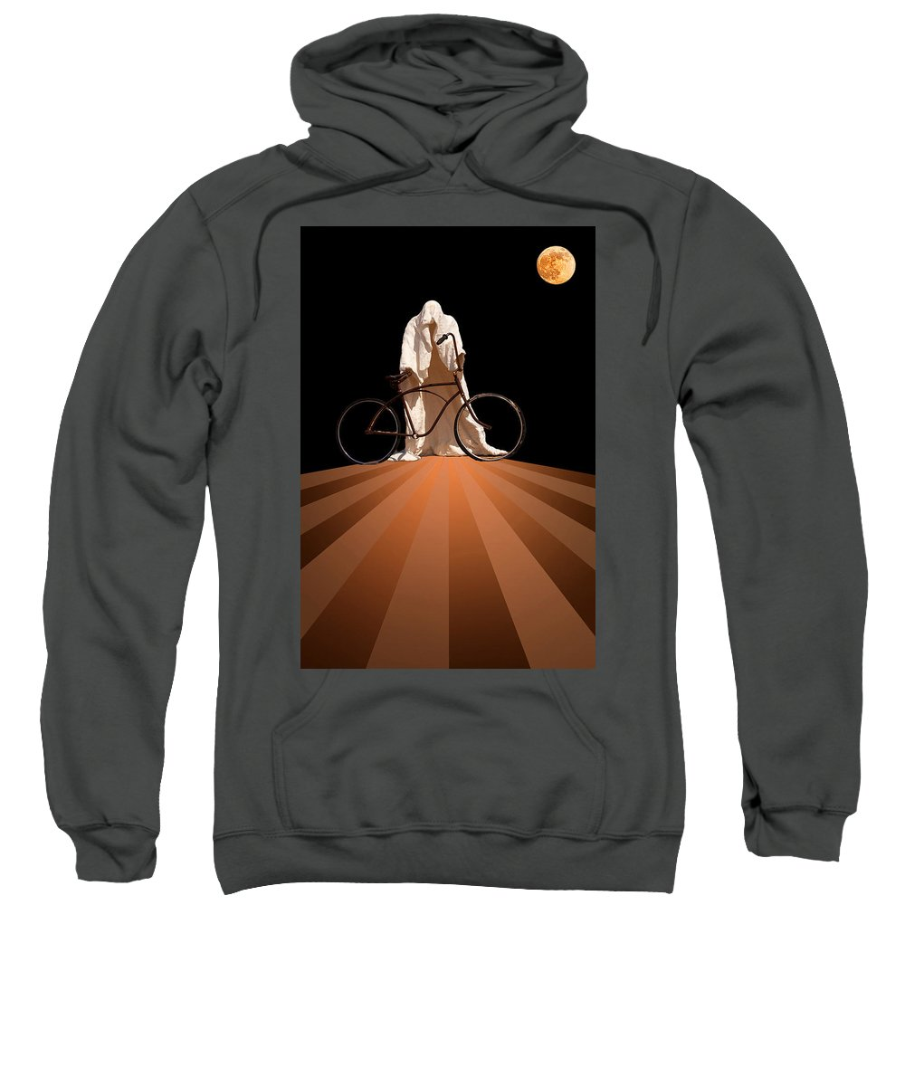 Fantasy Sweatshirt featuring the photograph Ghost Rider by Maria Coulson