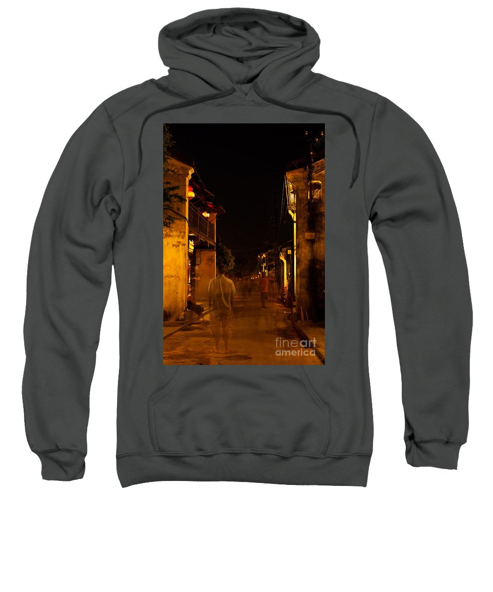 Vietnam Sweatshirt featuring the photograph Ghostly Street by Rick Piper Photography