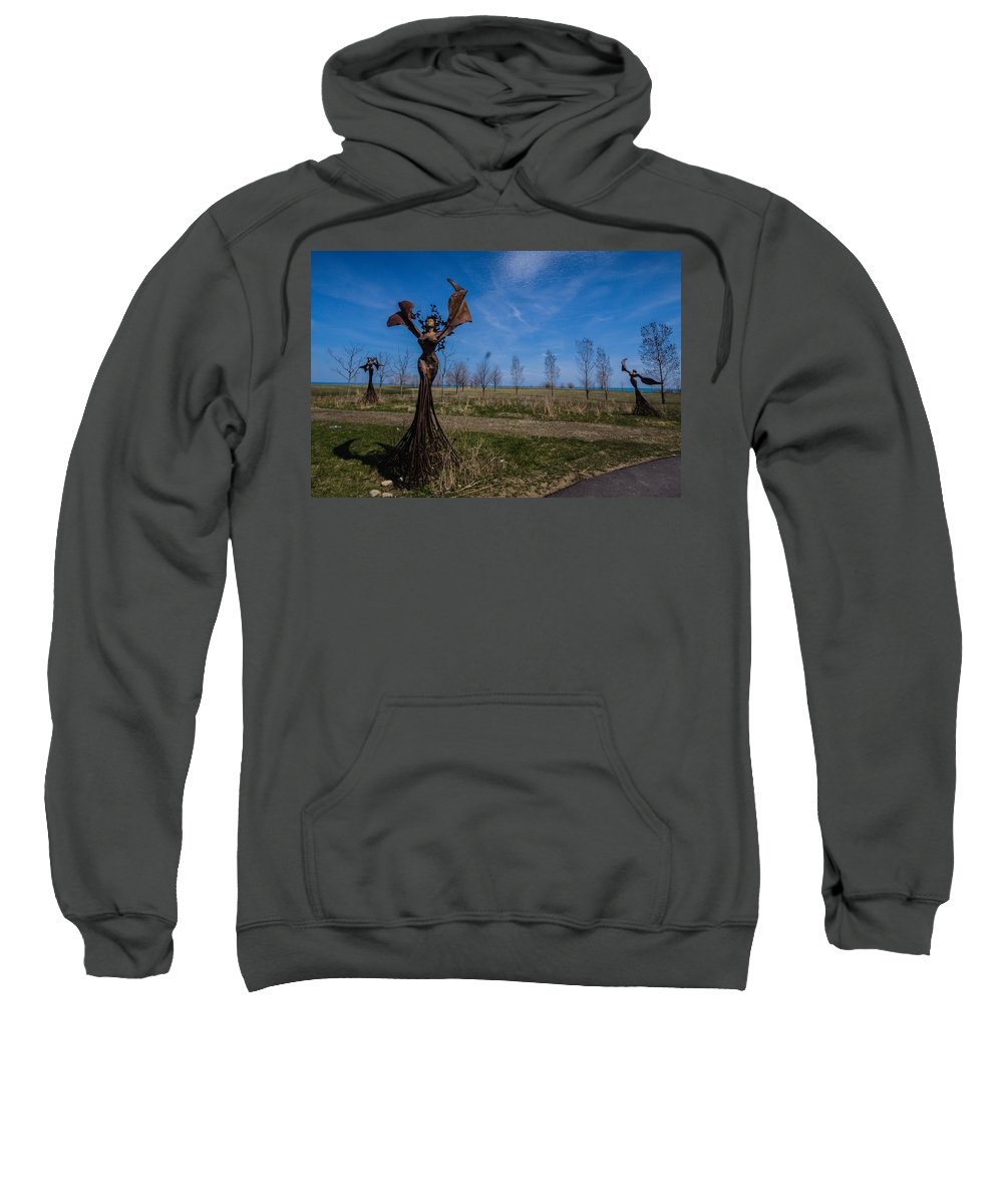 Sweatshirt featuring the photograph Girls by Sue Conwell