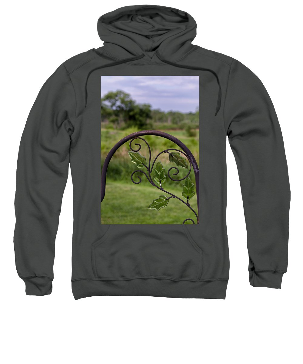 Glass Sweatshirt featuring the photograph Glass Leaves by Jim Shackett