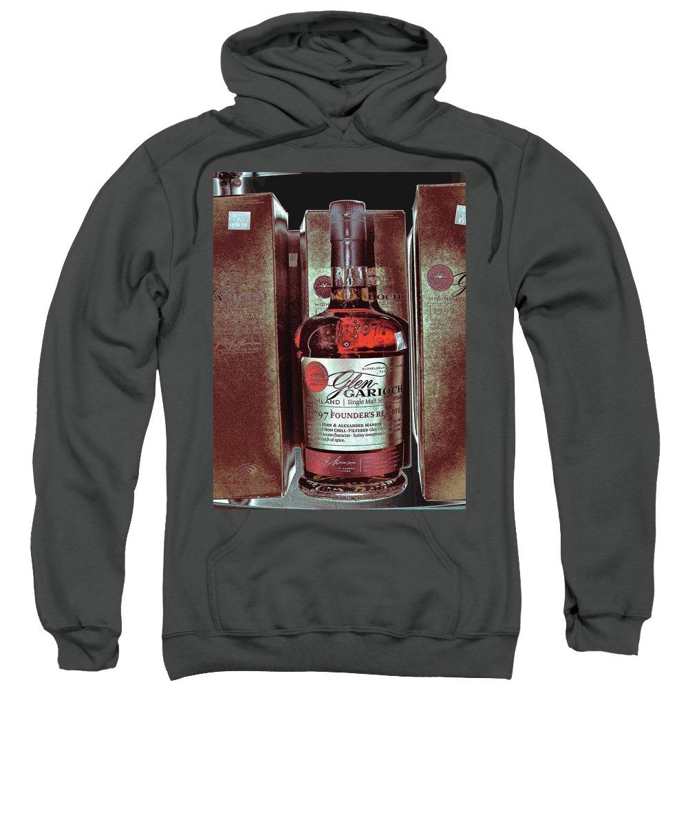 Bottle Sweatshirt featuring the digital art Glen by John Holfinger
