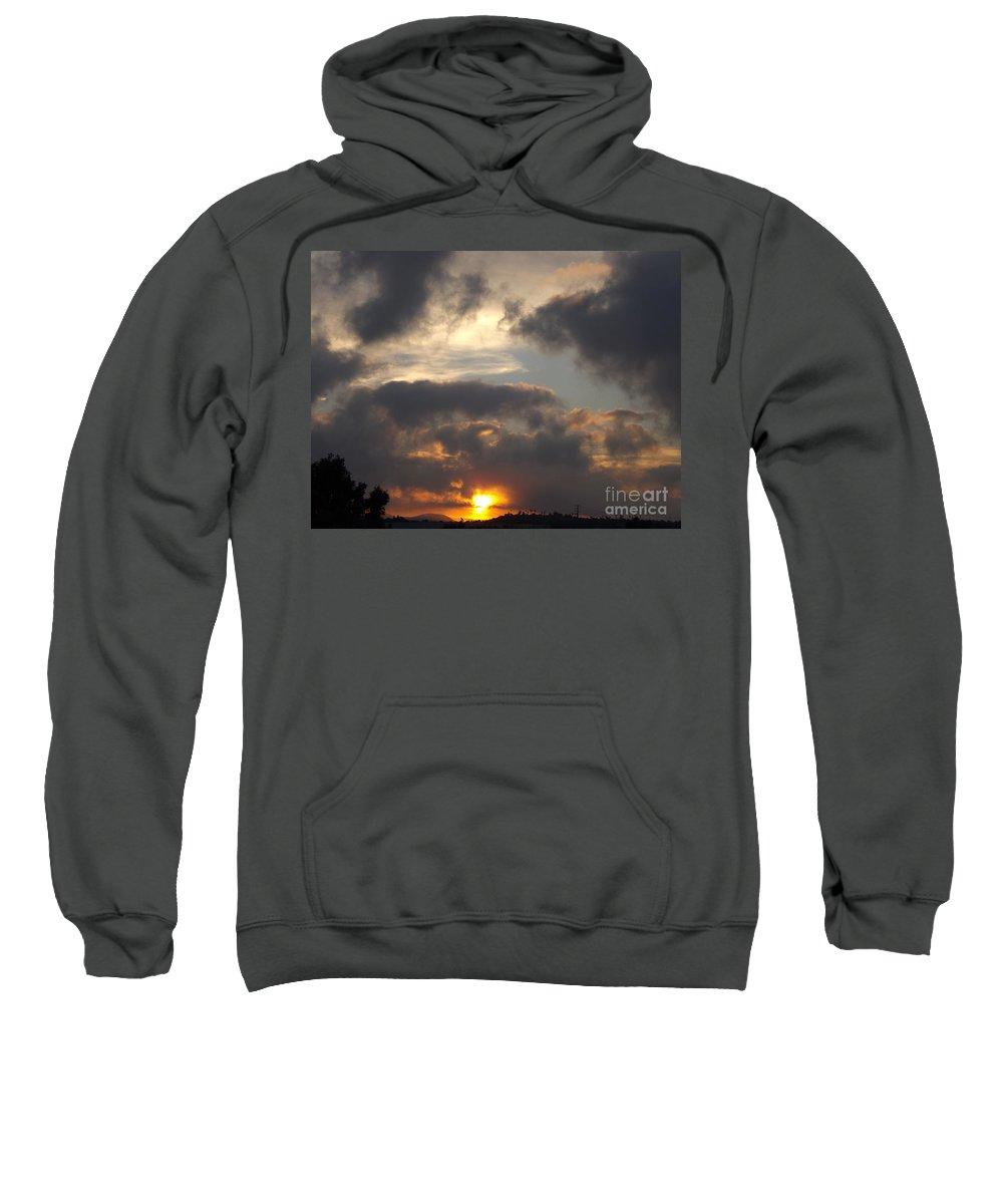 Sunrise Sweatshirt featuring the photograph Glorious Golden Sunrise by Jussta Jussta