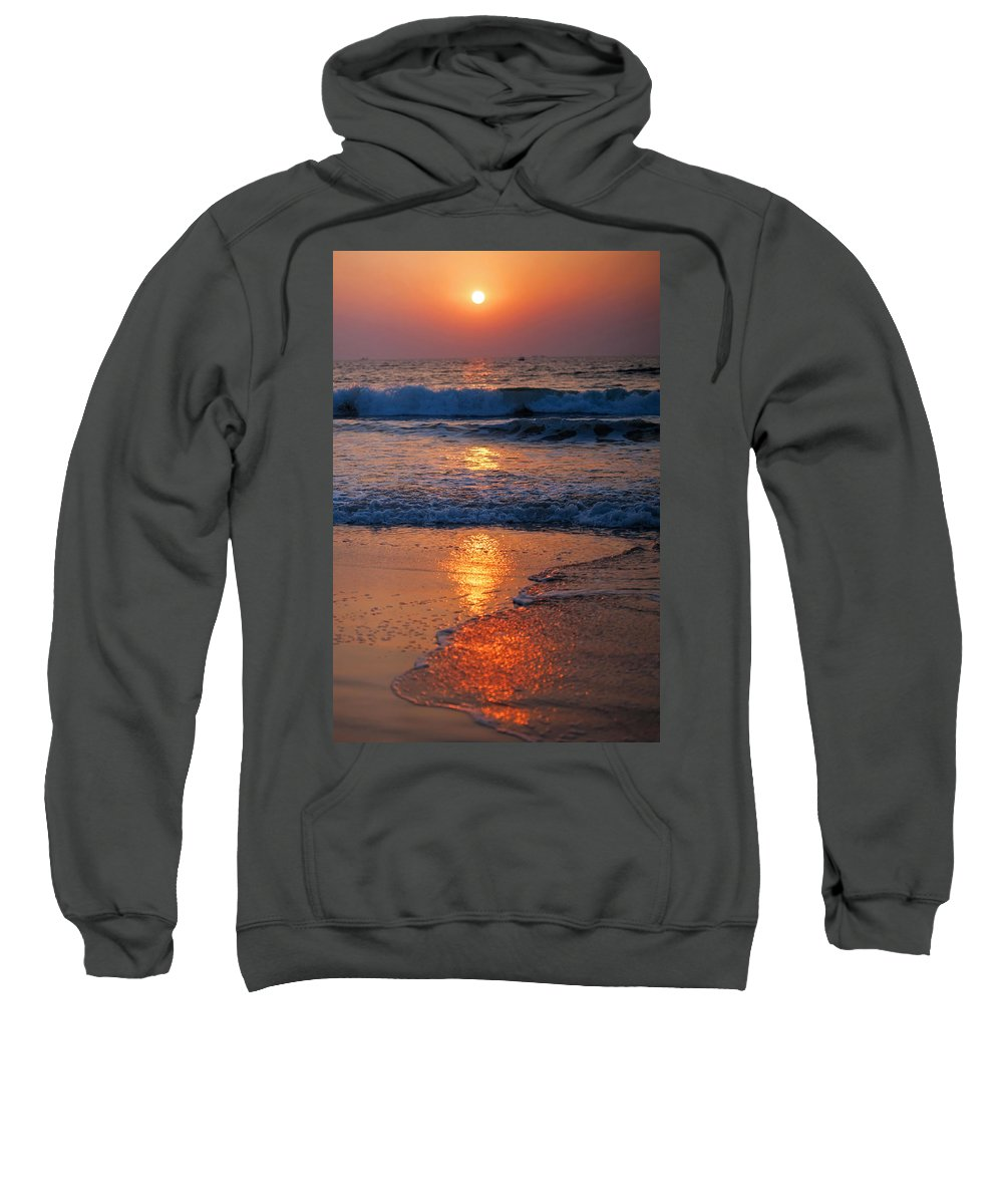 Sunset Sweatshirt featuring the photograph Goan Sunset. India by Jenny Rainbow