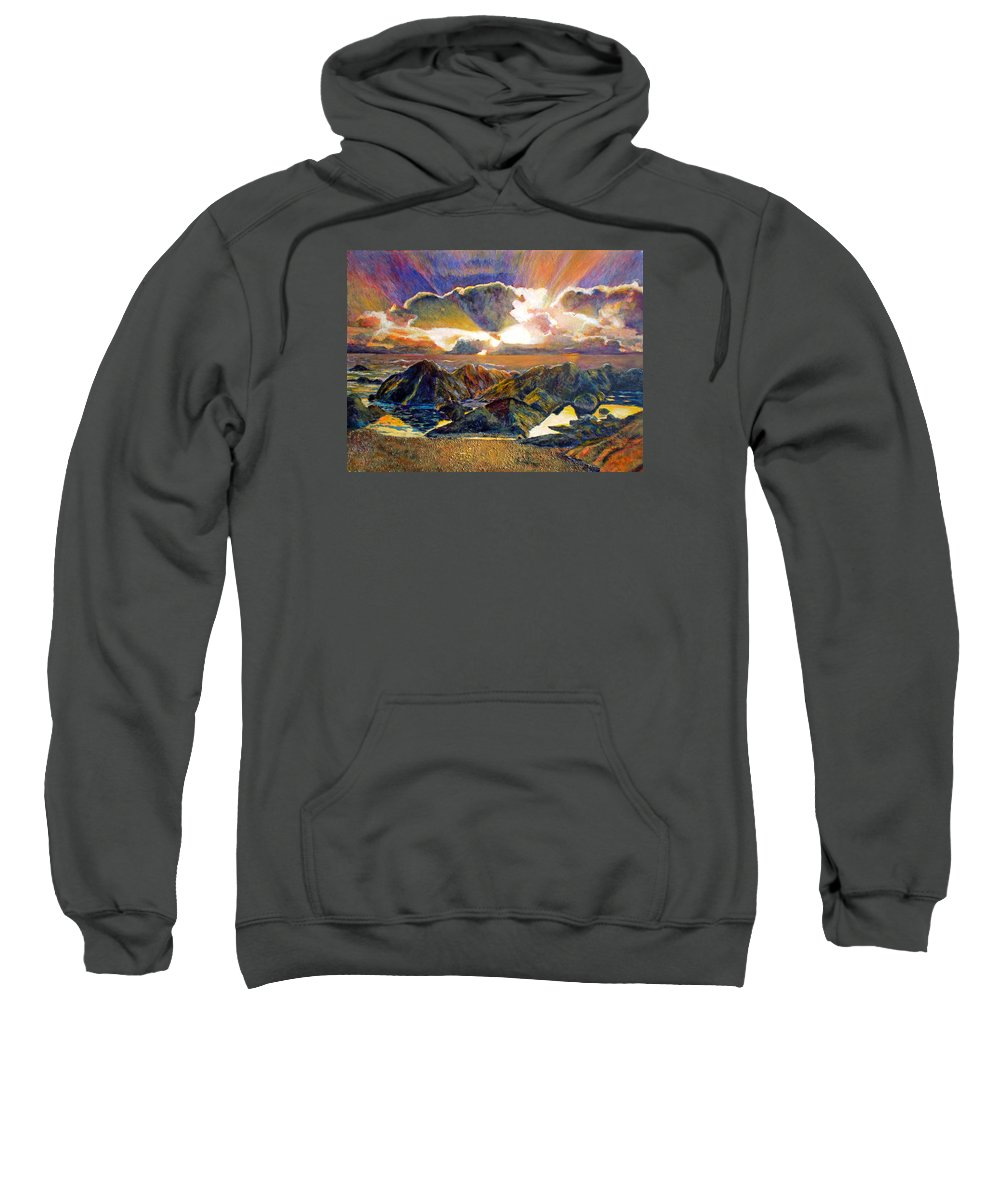 Seascape Sweatshirt featuring the painting God Speaking by Michael Durst