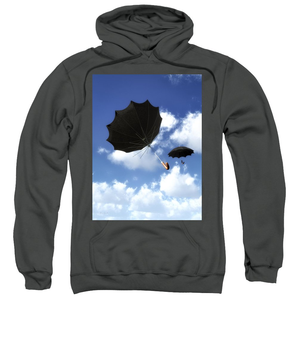 Umbrella Sweatshirt featuring the photograph Going Down Fast And Slow by Bob Orsillo