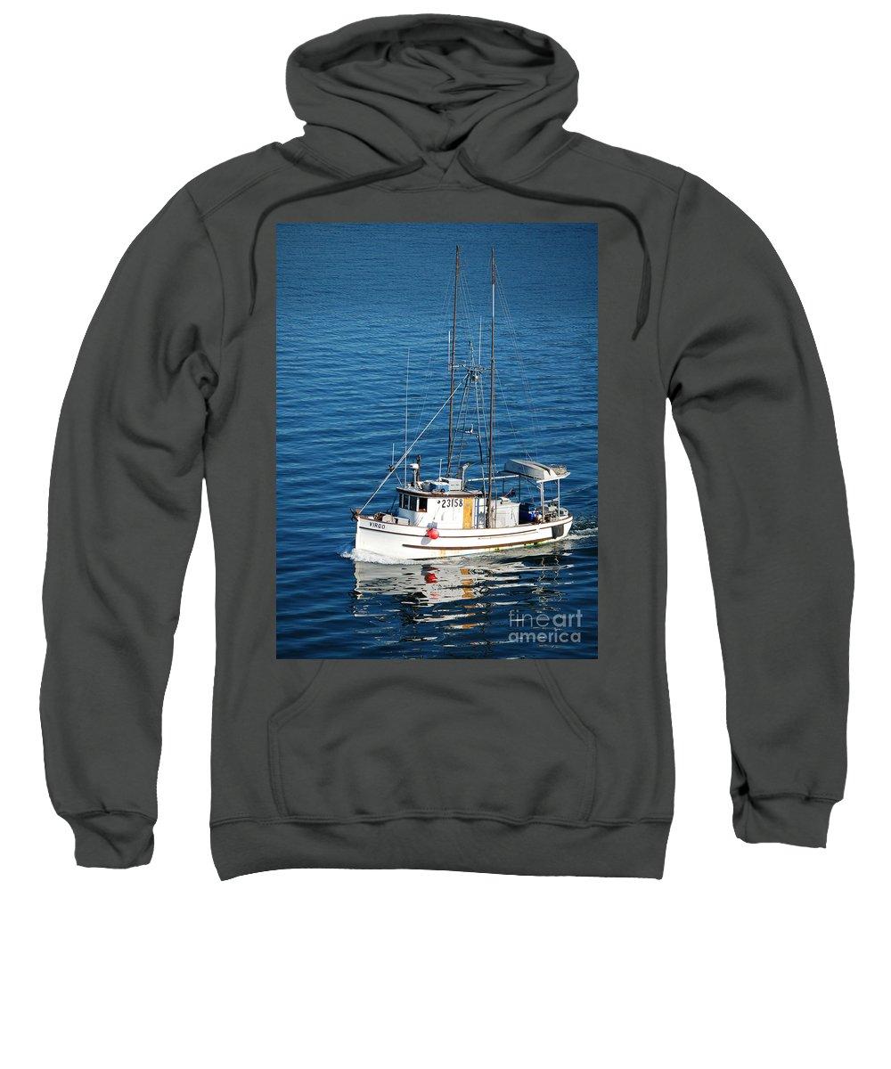 Boat Sweatshirt featuring the photograph Going Home by Flamingo Graphix John Ellis