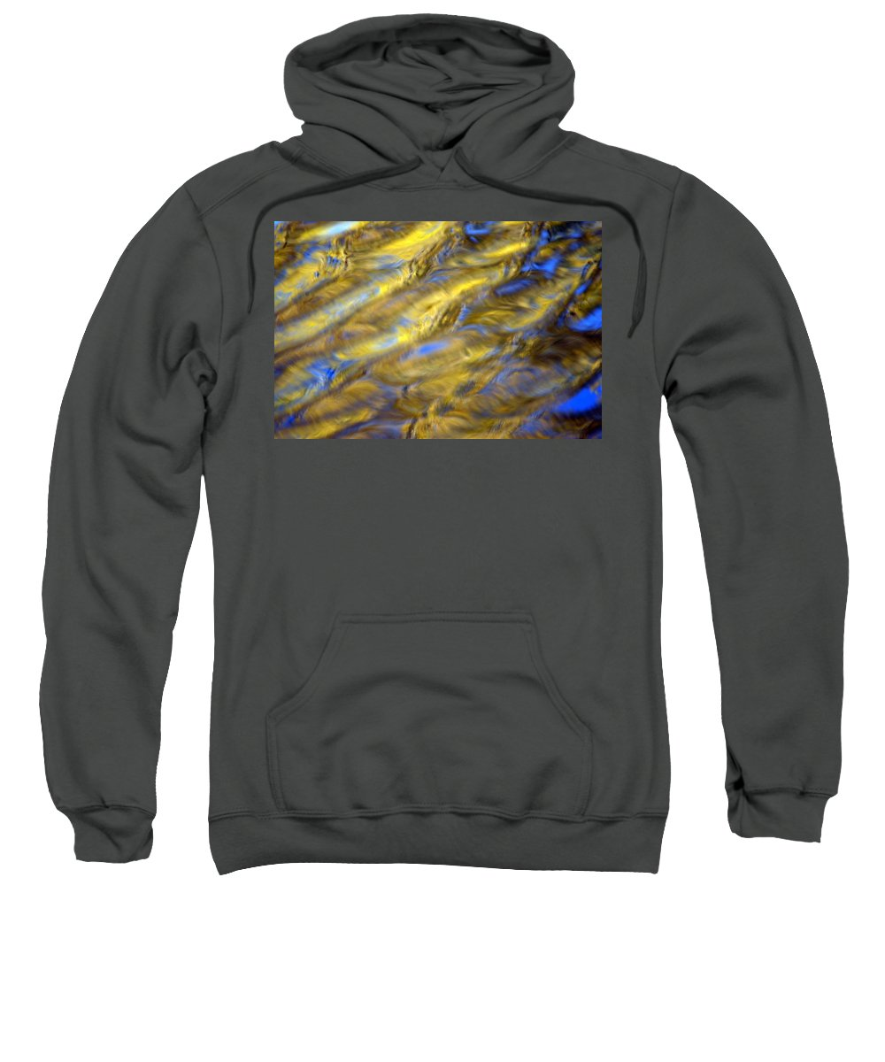 Leaf Sweatshirt featuring the photograph Gold Waters by Bonfire Photography