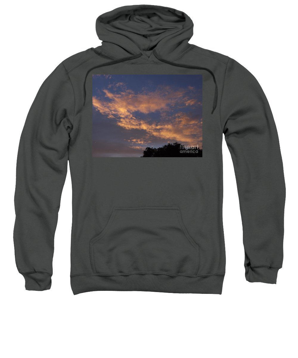 Sunset Sweatshirt featuring the photograph Golden Cloud Sunset by Jussta Jussta