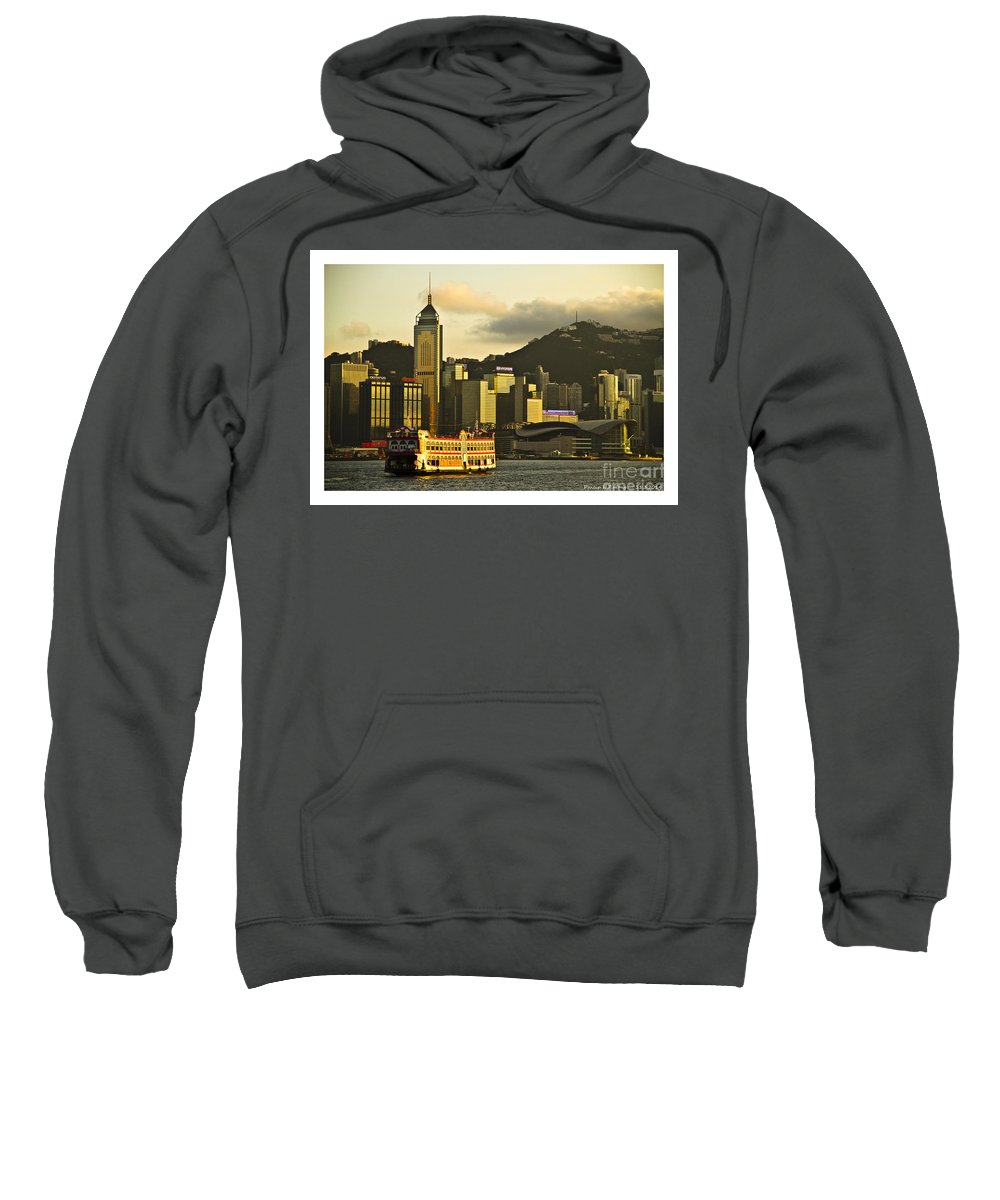 Golden Evening Sweatshirt featuring the painting Golden Evening by Philip HP Wong