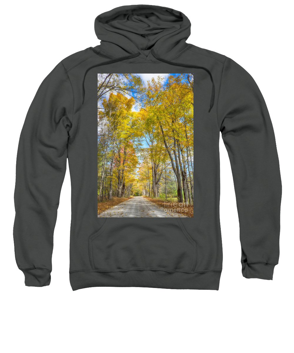 Autumn Sweatshirt featuring the photograph Golden Road by Claudia Kuhn