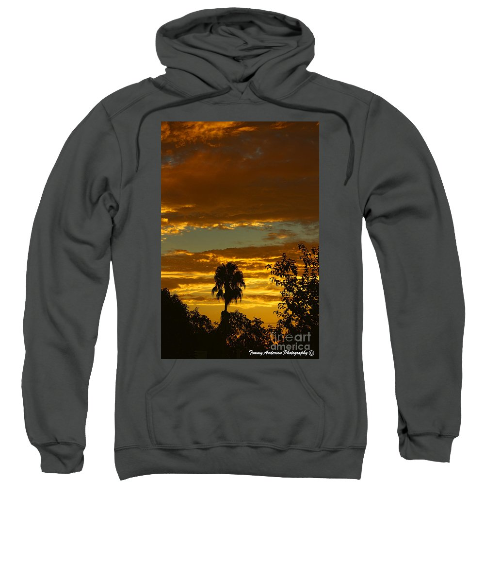 Golden Sunset Sweatshirt featuring the photograph Golden Sunset by Tommy Anderson