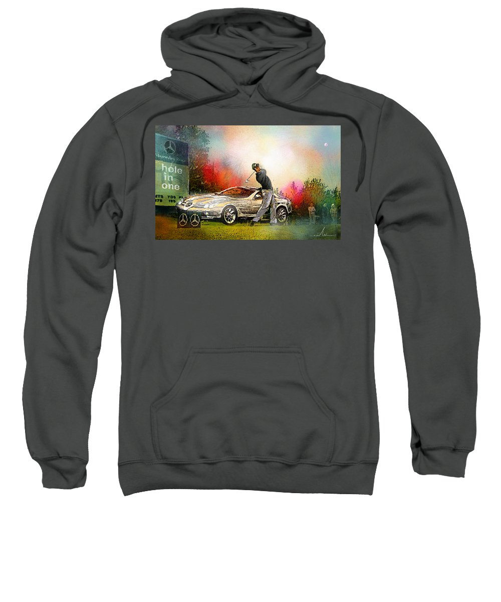 Golf Sweatshirt featuring the painting Golf In Gut Laerchehof Germany 03 by Miki De Goodaboom