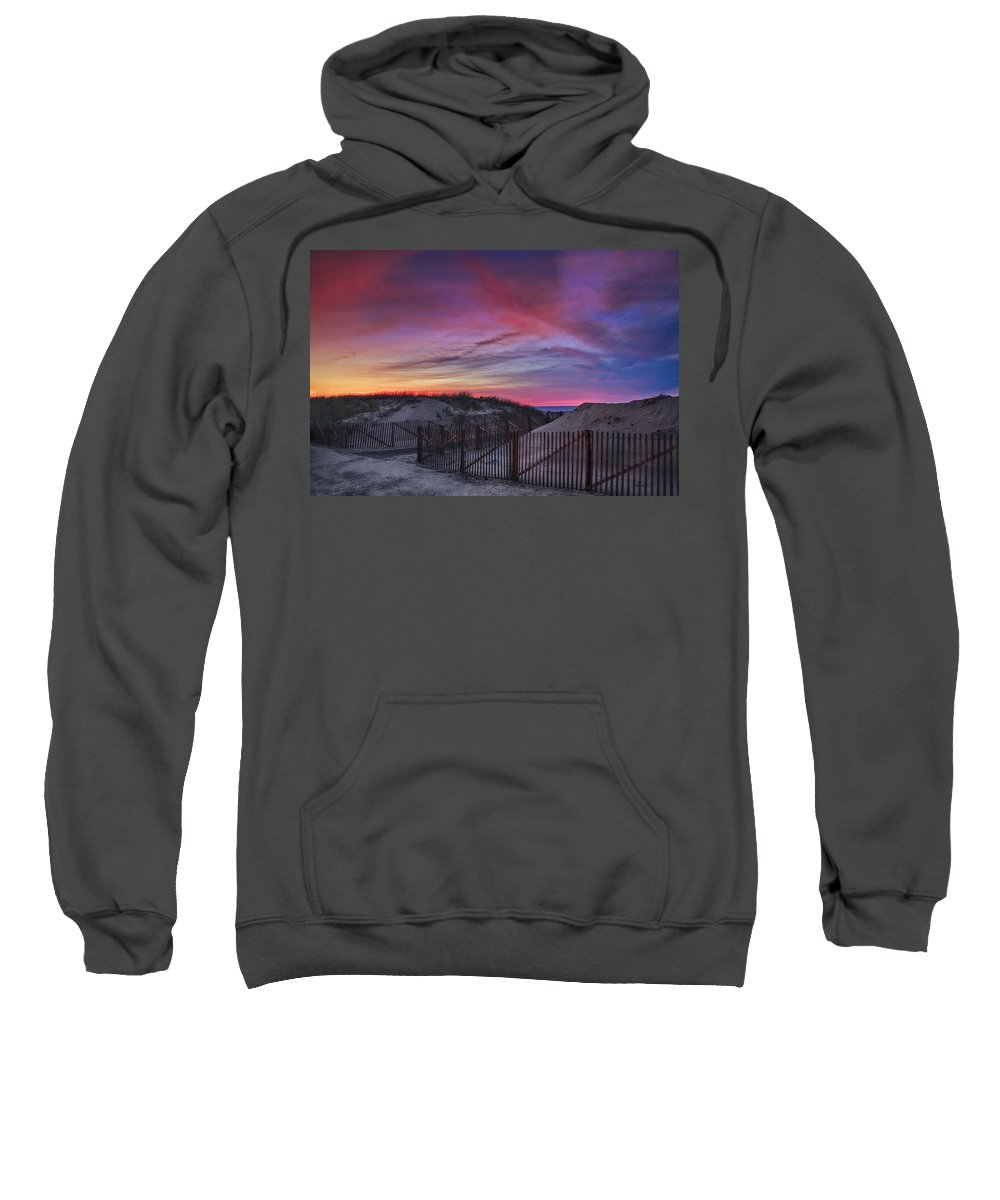 Scenic Sweatshirt featuring the photograph Good Night Cape Cod by Susan Candelario