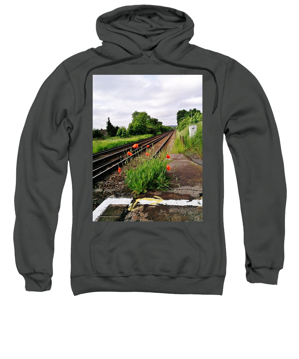 Landscape Sweatshirt featuring the photograph Waiting by Airybot