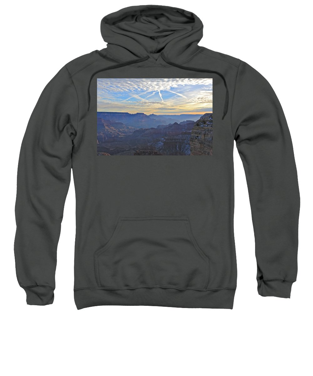 Nature Sweatshirt featuring the photograph Grand Canyon Dawn 2 by Noa Mohlabane