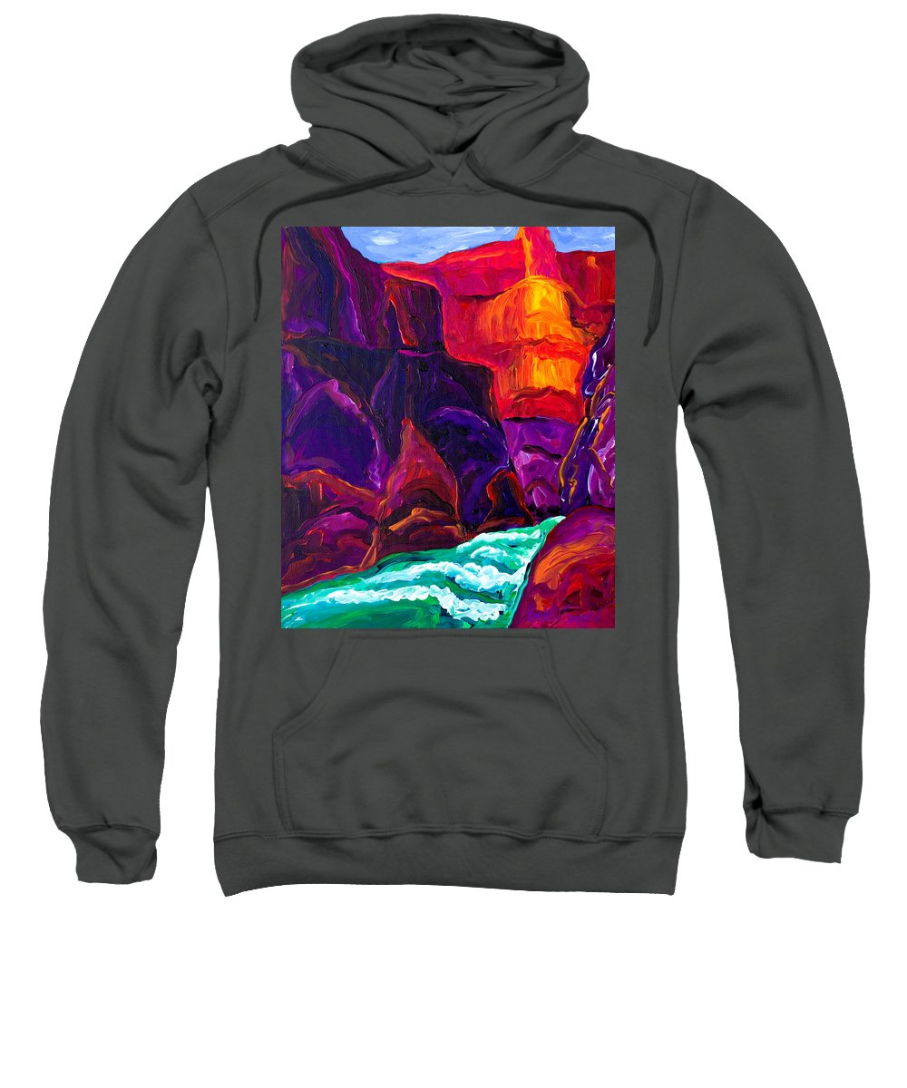 Grand Canyon Sweatshirt featuring the painting Grand Canyon II by Beth Cooper