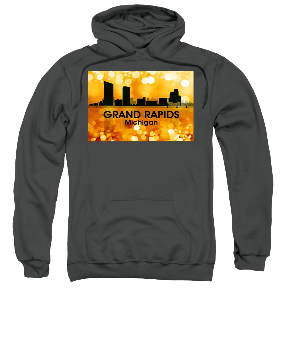 Grand Rapids Sweatshirt featuring the mixed media Grand Rapids Mi 3 by Angelina Vick