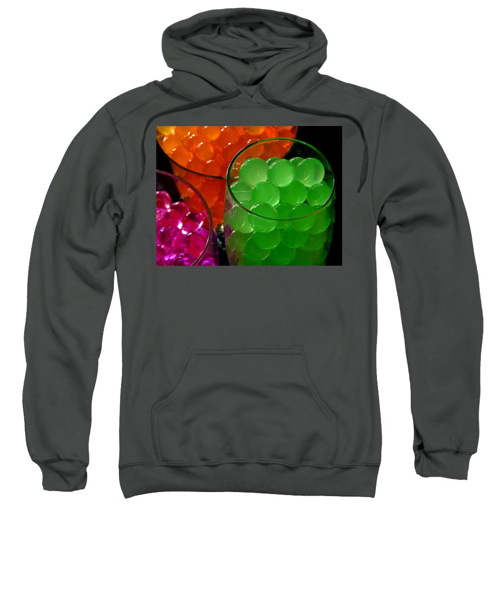 Polymer Gel Sweatshirt featuring the photograph Grape Ape by Ru Tover