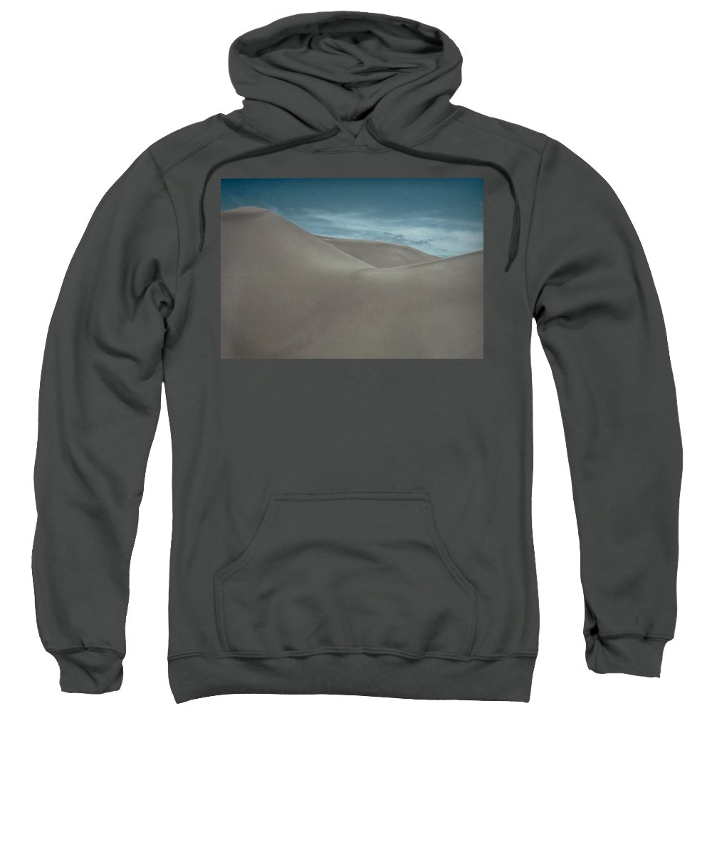 Sand Sweatshirt featuring the photograph Great Sand Dunes by Don Schwartz
