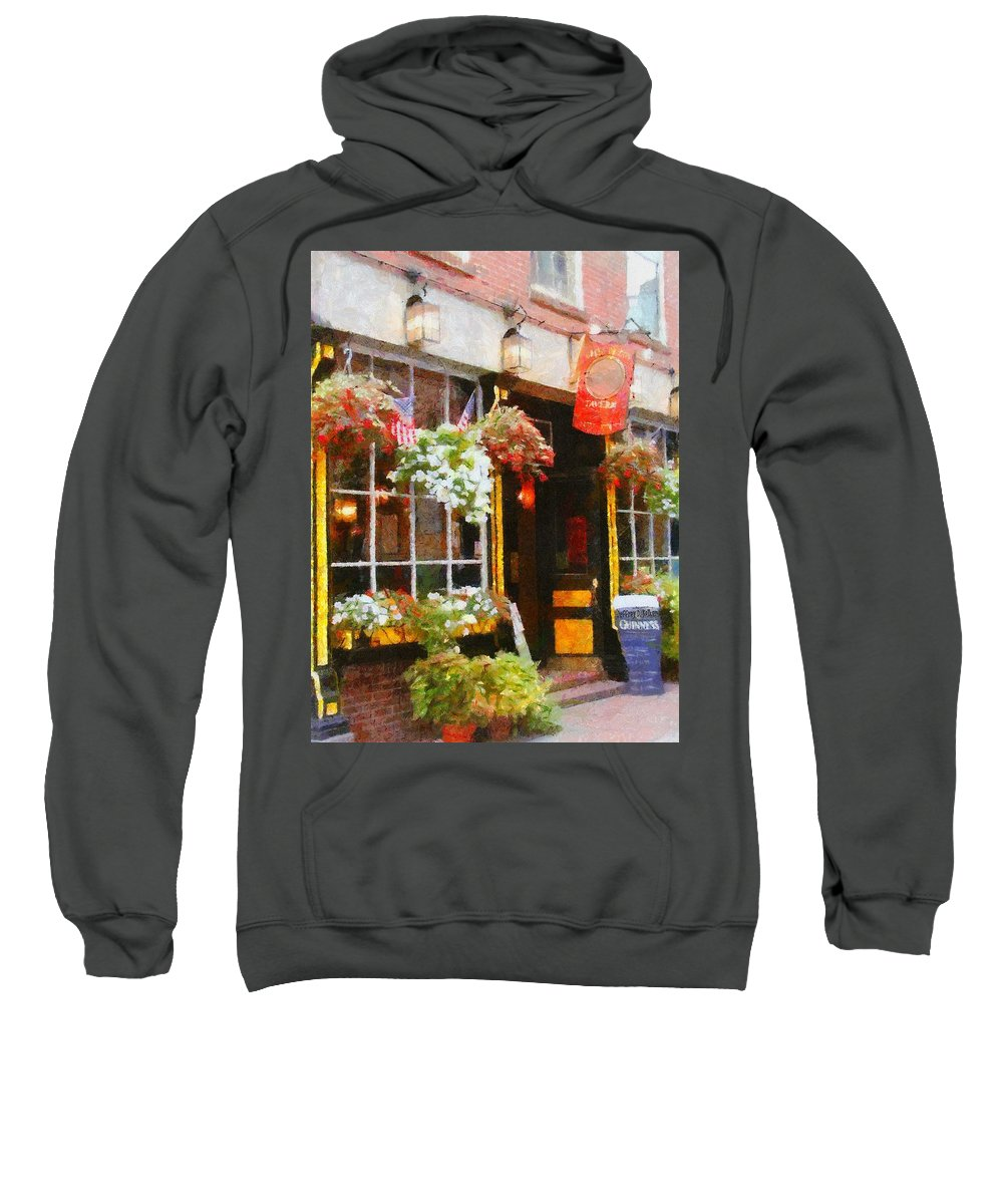 Bar Sweatshirt featuring the painting Green Dragon Tavern by Jeffrey Kolker