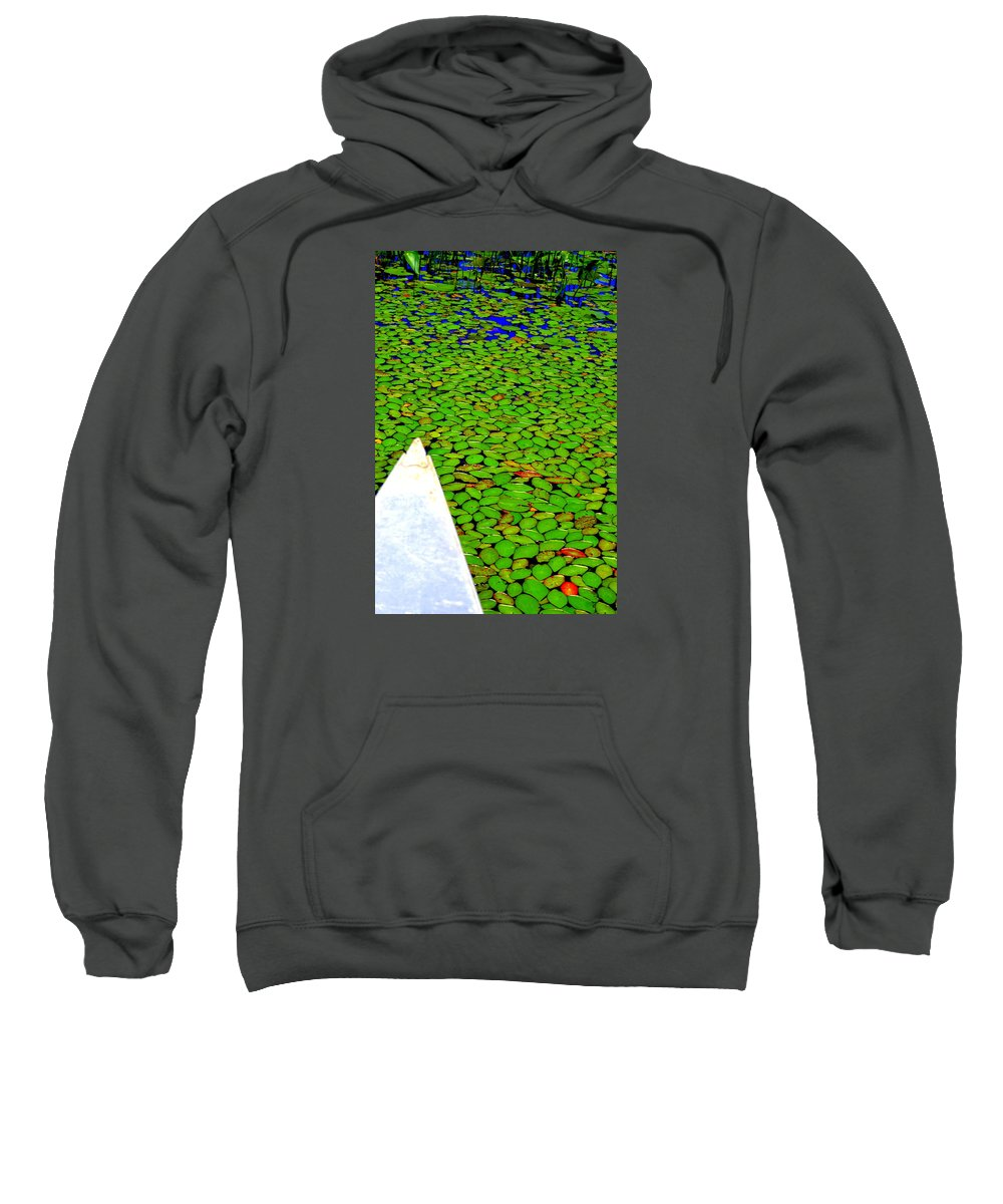 Canoeing Sweatshirt featuring the photograph Green Dream by Zafer Gurel