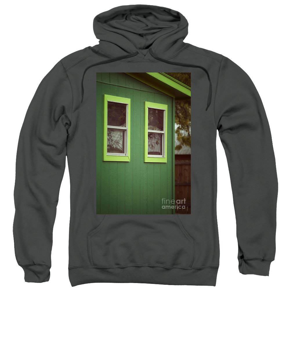 Sweatshirt featuring the photograph Green House by Trish Mistric