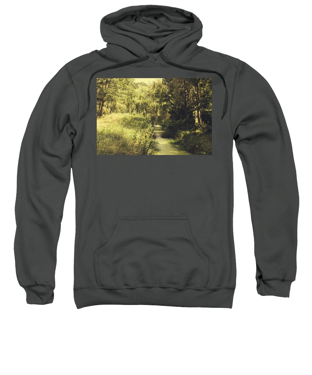 Creek Sweatshirt featuring the photograph Green Landscape by Pati Photography
