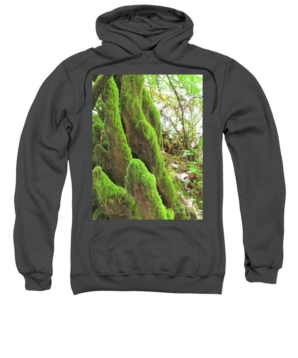 Nature Sweatshirt featuring the photograph Green Moss by Mary Mikawoz
