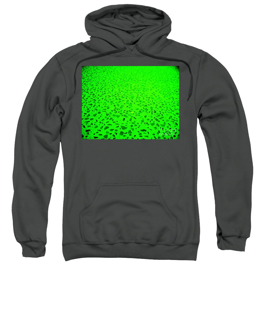 Green Abstract Sweatshirt featuring the photograph Green Representational Abstract by Eric Schiabor