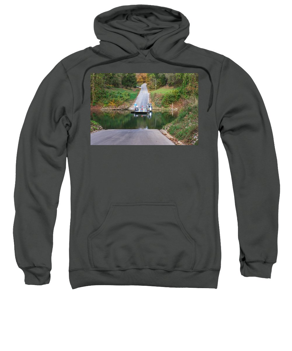 Mammoth Cave National Park Sweatshirt featuring the photograph Green River Ferry by Mary Almond