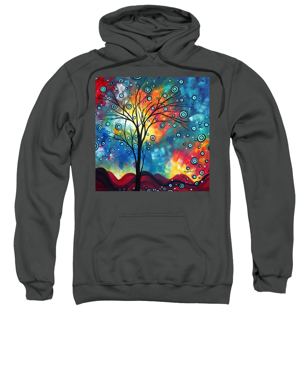 Wall Sweatshirt featuring the painting Greeting The Dawn By Madart by Megan Duncanson