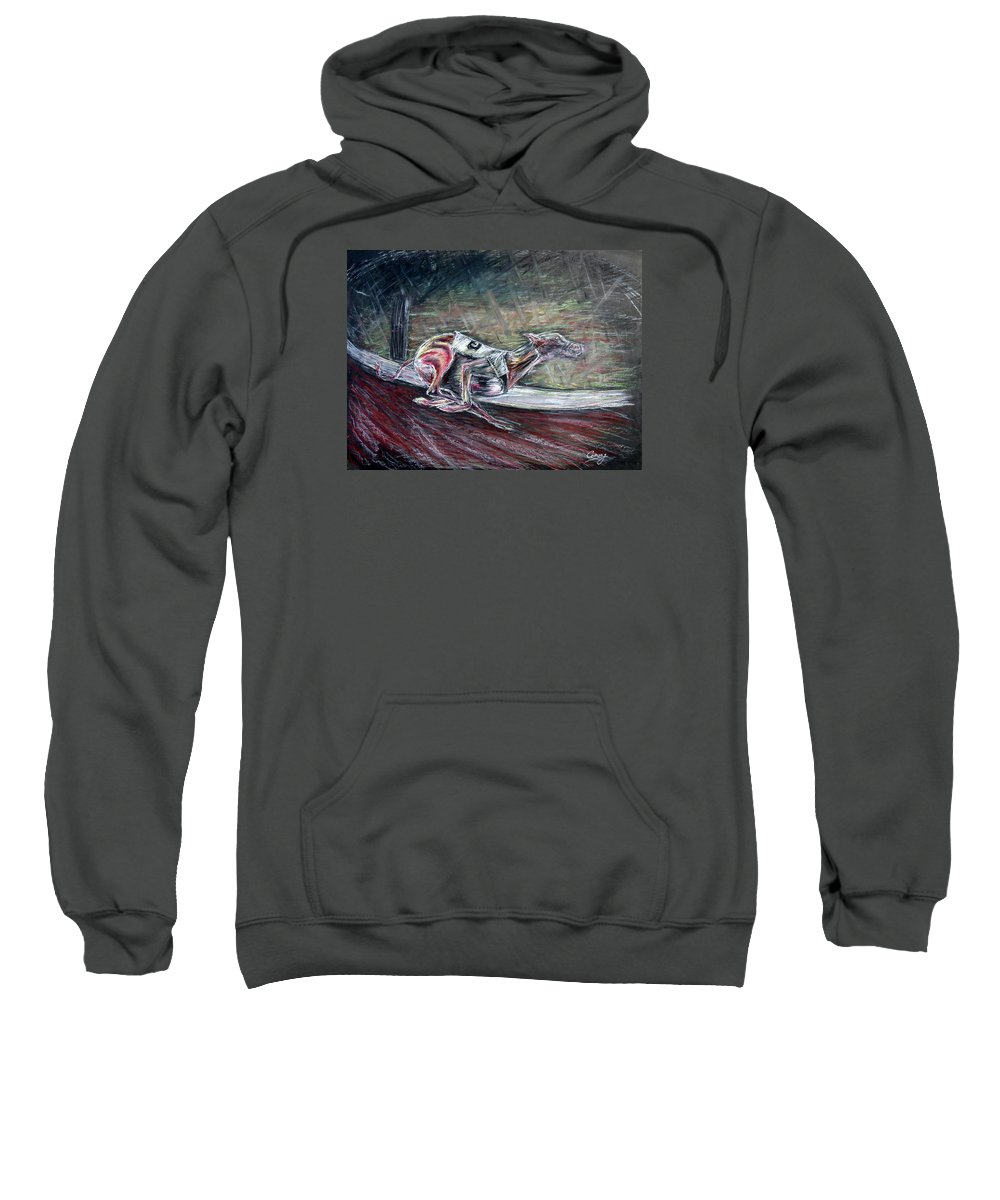 Dog Sweatshirt featuring the drawing Greyhound Number Three by Tom Conway