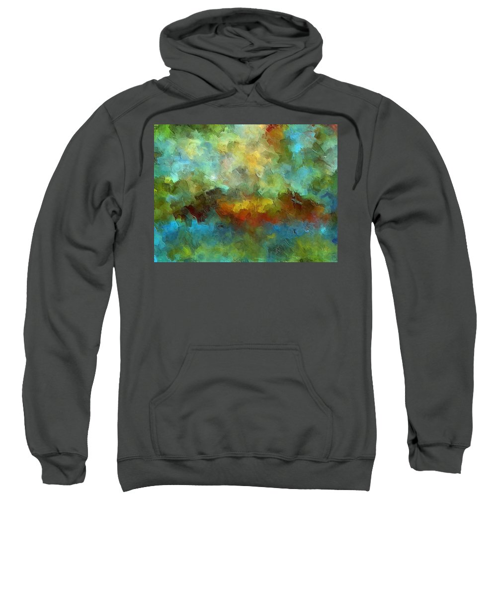 Abstract Art Sweatshirt featuring the painting Grotto by Ely Arsha
