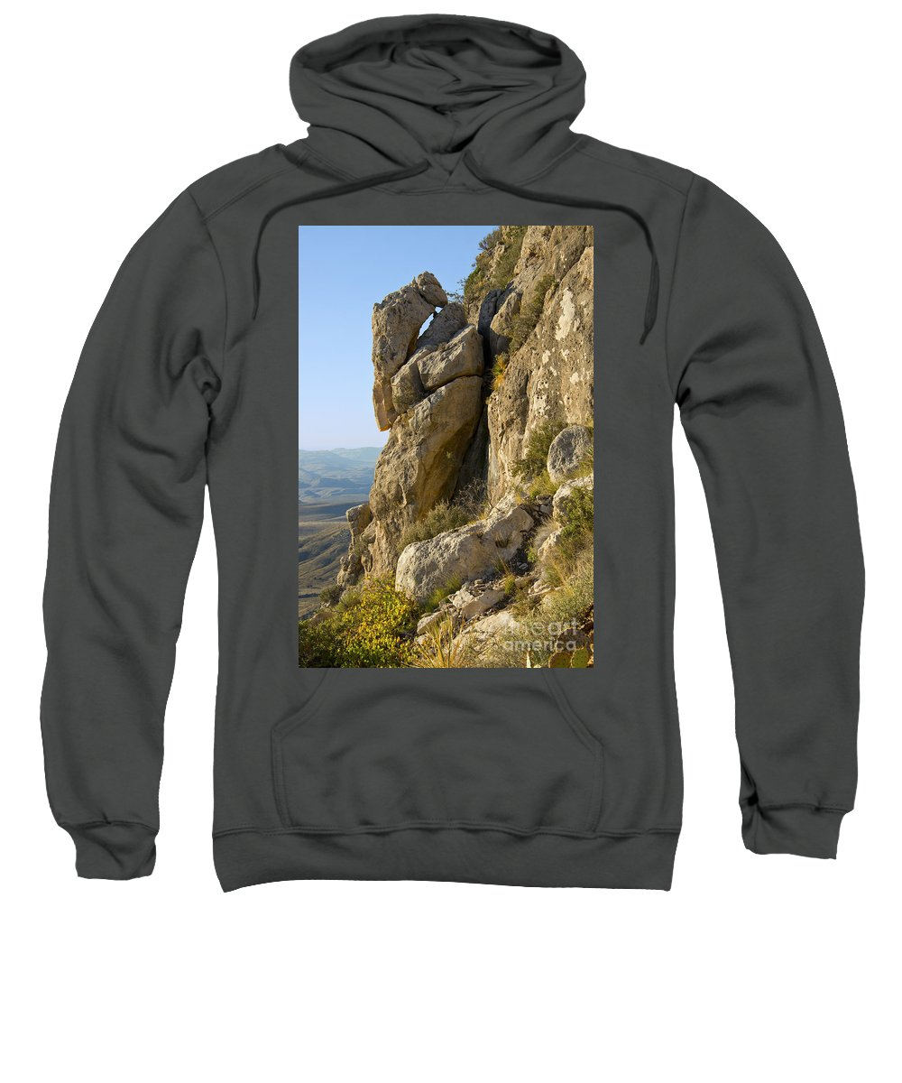 Guadalupe Mountains National Park Texas Guadalupe Peak Trail Trails Mountain Rock Rocks Landscape Landscapes Sweatshirt featuring the photograph Guadalupe Peak Trail by Bob Phillips