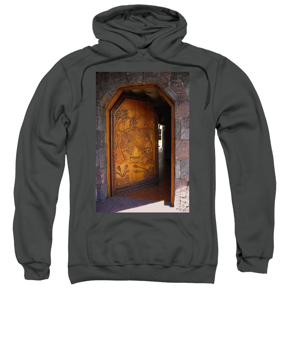 Door Sweatshirt featuring the photograph Guatemala Door 1 by Xueling Zou