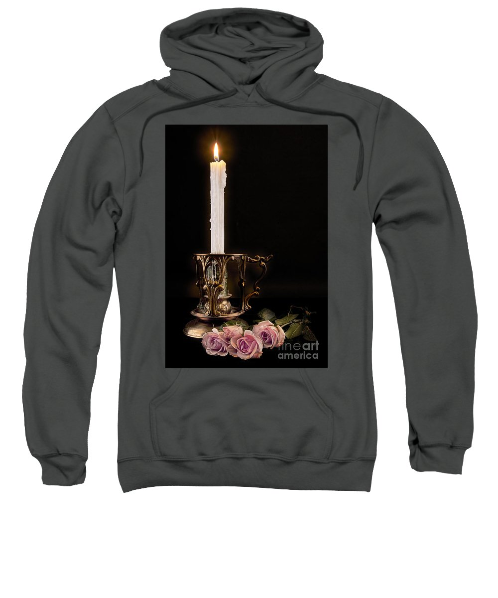 Candle Sweatshirt featuring the photograph Guiding Light by Dianne Phelps