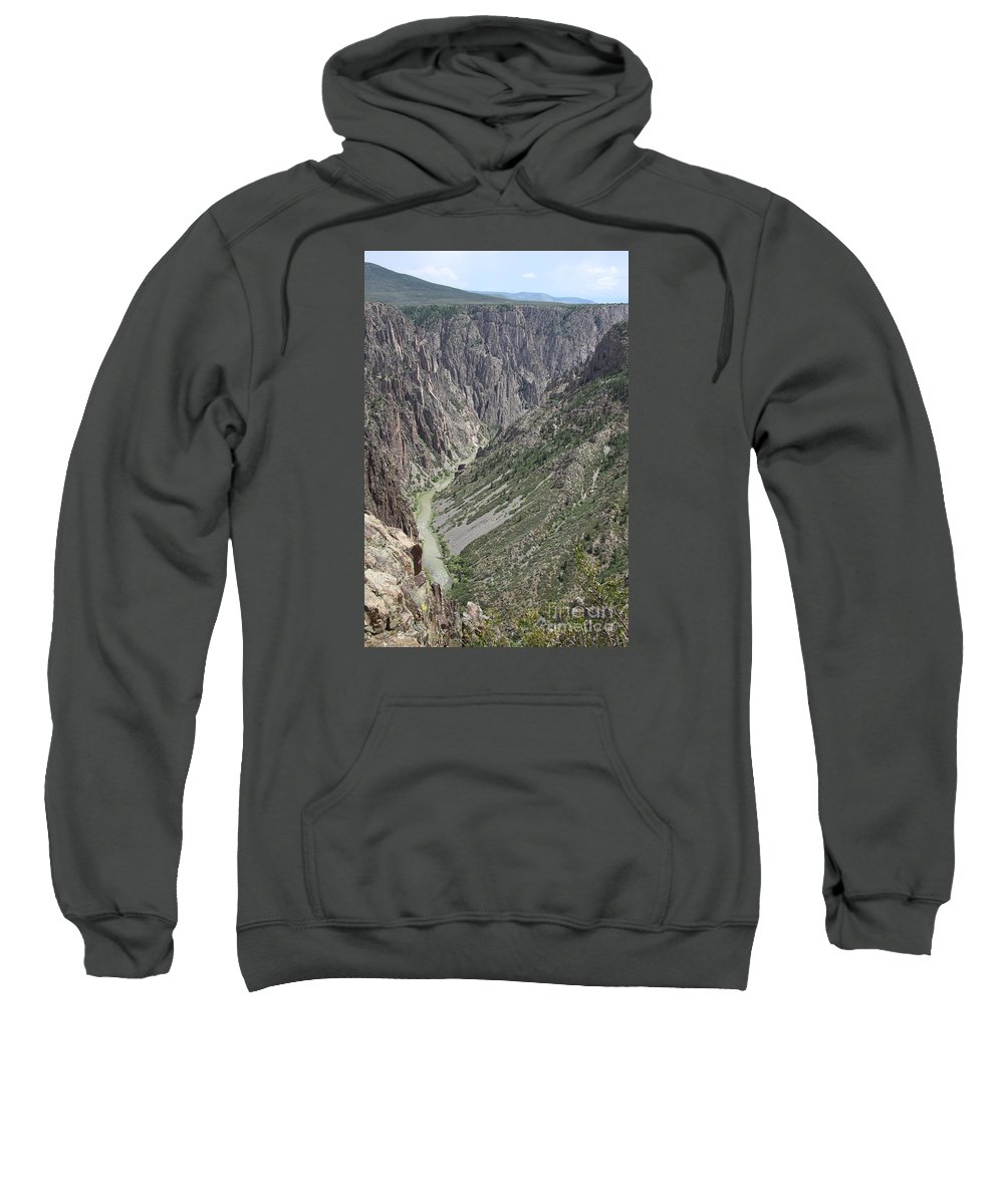 Black Canyon Of The Gunnison Sweatshirt featuring the photograph Gunnison River At The Base Of Black Canyon Of The Gunnison by Christiane Schulze Art And Photography