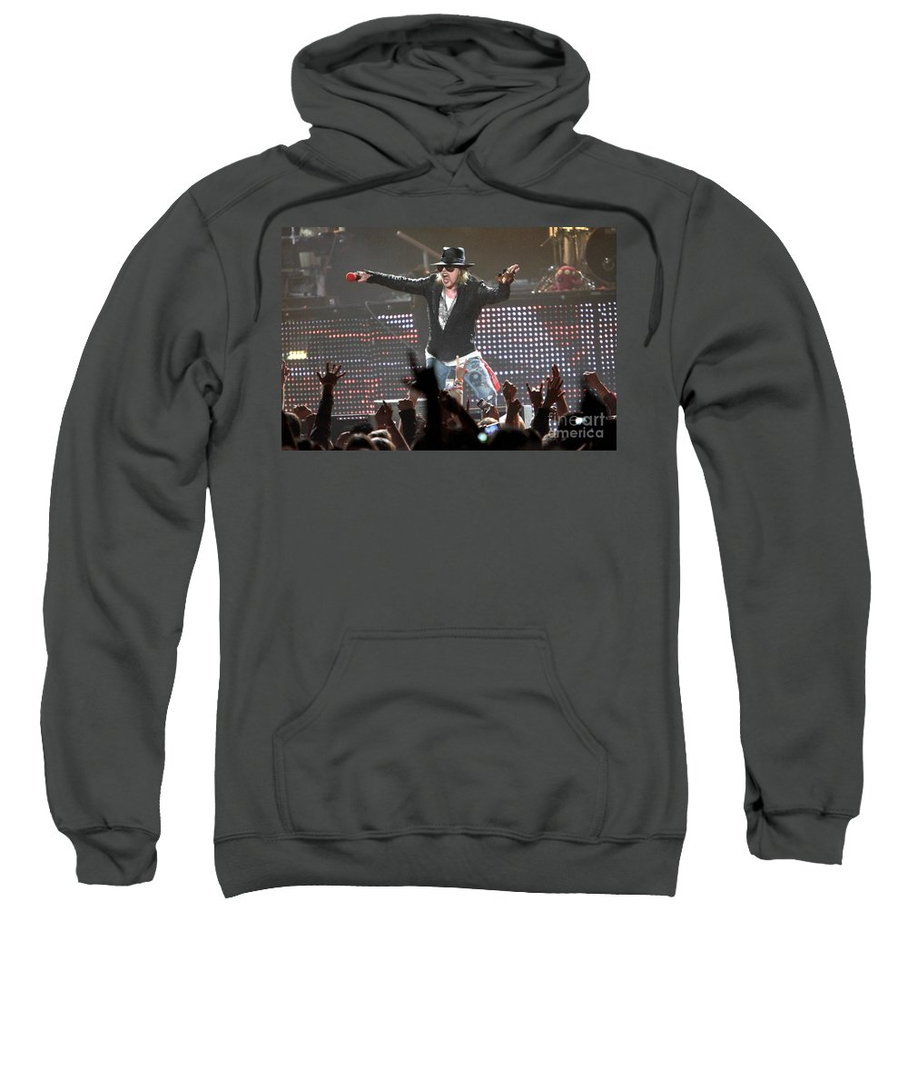 Concert Sweatshirt featuring the photograph Guns N' Roses by Concert Photos