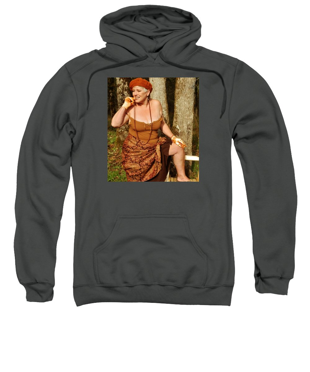 Portrait Sweatshirt featuring the photograph Gypsy Spice by VLee Watson