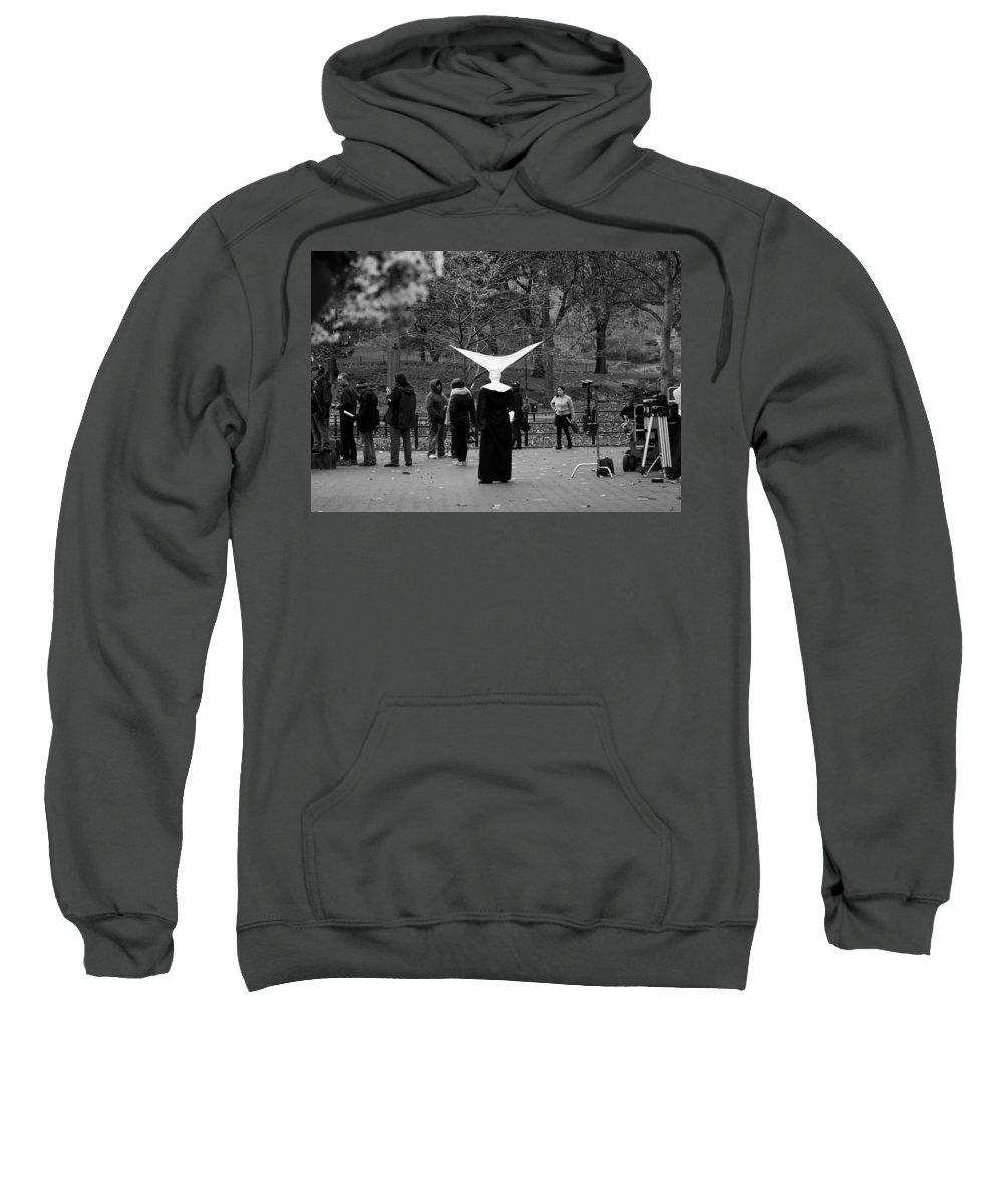 New York City Sweatshirt featuring the photograph Habit In Central Park by Lorraine Devon Wilke