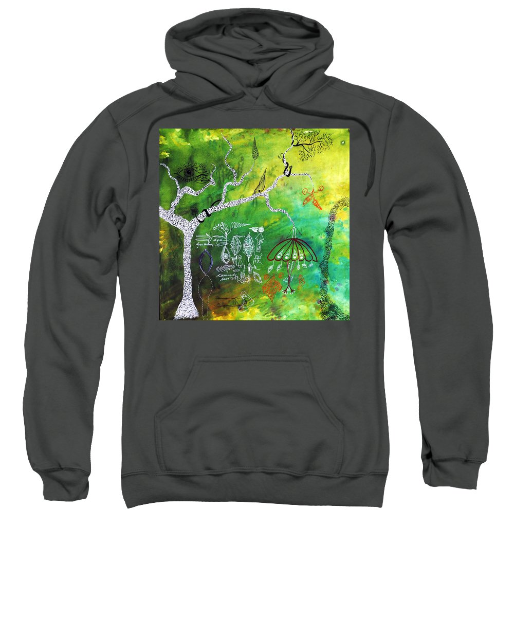 Tree Sweatshirt featuring the painting Habitat by Sumit Mehndiratta