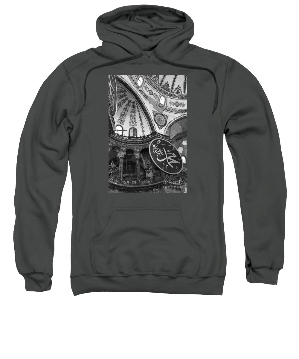 Interior View Of The Hagia Sophia Sweatshirt featuring the photograph Hagia Sophia Dome Detail by Christiane Schulze Art And Photography