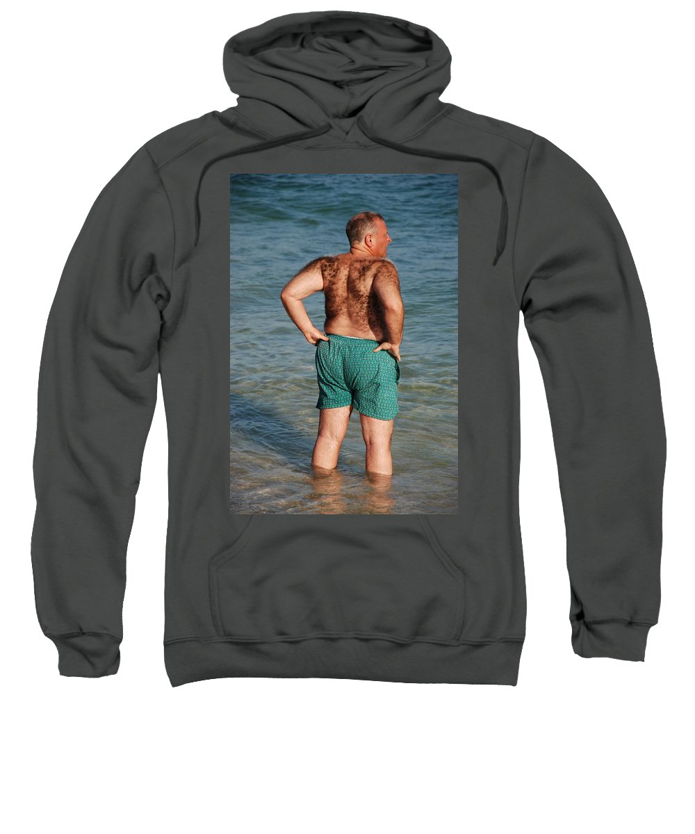Man Sweatshirt featuring the photograph Hairy Ocean by Rob Hans